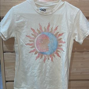 urban outfitters yellow sun and moon t shirt